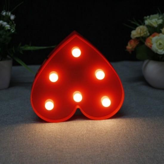 BRELONG 3D Warm White Kids Room  Night Light Christmas   Wedding Decorative 4.5V - Heart ( No Batter